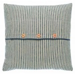 Hampton Stripe buttoned cushion cover
