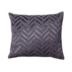 Herringbone Flax Blue Jute Cushion Oblong