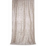Hudson Silver Silk Curtain Panel