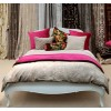 Hyde Park Fuschia Velvet Throw