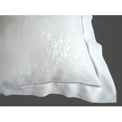 Spray Flower Embroidered Linen