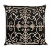 Isobel Black Velvet Floor Cushion