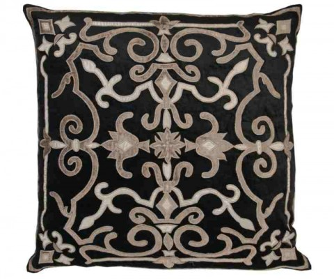 These fabulous cushion covers are made from a lovely quality crushed velvet in black. Each cover has 1 strip of sparkling silver diamante down the centre. The reverse of the cover is in the same plain.
