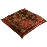 Isobel Terracotta Velvet Floor Cushion