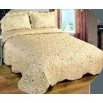 Jasmine Cream Satin bedspread