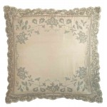 Juliet Ivory Silk  Embroidered Cushion cover Large