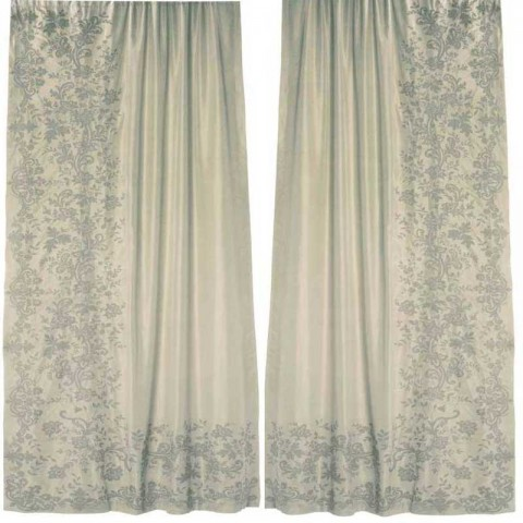 Juliet Ivory Silk  Embroidered Curtain