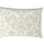 Juliet Ivory Silk  Embroidered Cushion cover Oblong