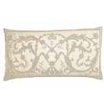 Juliet Ivory Silk  Embroidered Cushion cover Oblong Small