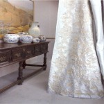 Juliet Sky Silk  Embroidered Curtain Panel right