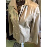 Metallic leather jacket size medium