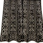 Leopold Black Velvet Appliqued Curtain Panel