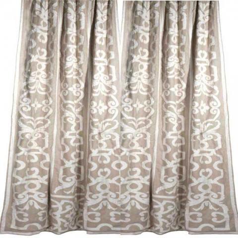 Leopold Linen Appliqued Curtain
