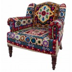 Crewelwork Maharajah chair