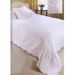 Malmaison ivory quilted bedspread
