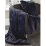 Midinght faux fur throw