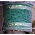 Moroccan Monsoon Beaded Velvet Cushion Duckegg