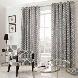 oh Silver chenille eyelet curtains