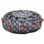 Pouffe black and white