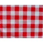 Gingham Red Country Check  vinyl tablecloth