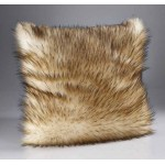 Reynard Cream Faux Fur Cushion