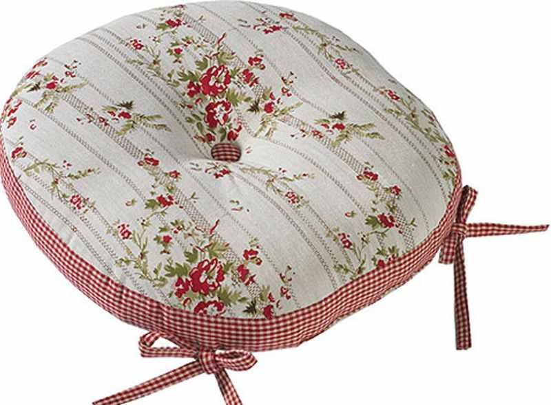 rose cottage round seat pad. Black Bedroom Furniture Sets. Home Design Ideas