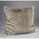 Siberian Wolf Faux Fur Cushion