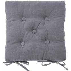 Storm Grey buttoned seat pad
