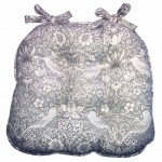 Strawberry Thief Grey Chunky Seat Pad