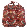 Strawberry Thief  Red Mynah Chunky Seat Pad