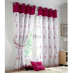 Tahiti eyelet curtains cerise