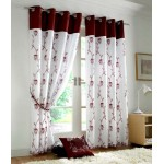 Tahiti eyelet curtains burgundy
