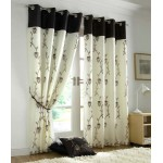 Tahiti eyelet curtains chocolate
