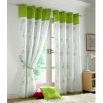 Tahiti eyelet curtains lime