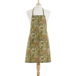 Golden Lily fabric halter apron