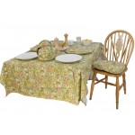 Golden Lily PVC Tablecloth