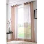 Voile eyelet panel coffee
