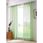 Voile eyelet panel lime