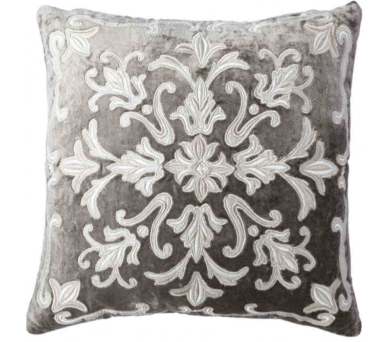 Whitehall Taupe Velvet Cushion Cover