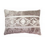 Whitehall Taupe Velvet Cushion Oblong
