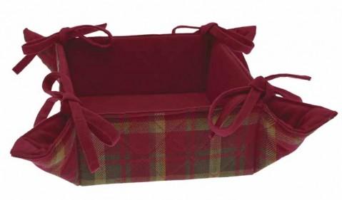 Woodland Tartan bread basket