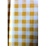 Gingham Yellow Country Check  vinyl tablecloth